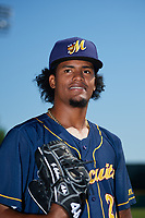Montgomery Biscuits pitcher Genesis Cabrera (27) poses for a photo before a game against the Biloxi Shuckers on May 8, 2018 at Montgomery Riverwalk Stadium in Montgomery, Alabama.  Montgomery defeated Biloxi 10-5.  (Mike Janes/Four Seam Images)