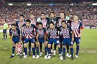 CD Guadalajara starting XI.  CD Guadalajara defeated Houston Dynamo 1-0 during the group stage of the Superliga 2008 tournament at Robertson Stadium in Houston, TX on July 15, 2008.