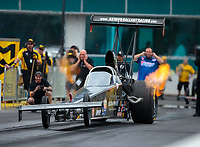 Mar 16, 2019; Gainesville, FL, USA; NHRA top alcohol dragster driver Jasmine Salinas during qualifying for the Gatornationals at Gainesville Raceway. Mandatory Credit: Mark J. Rebilas-USA TODAY Sports