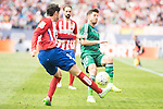 Atletico de Madrid's Filipe Luis and Juanfran Torres and Real Betis's A. Cejudo during BBVA La Liga match. April 02,2016. (ALTERPHOTOS/Borja B.Hojas)
