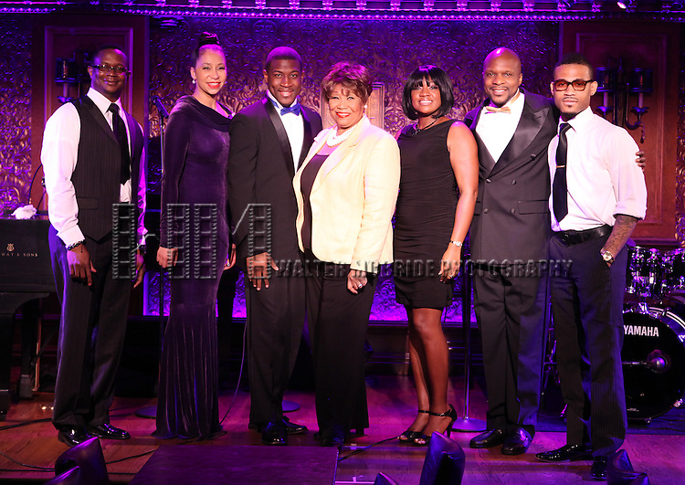 Musico Group SING, HARLEM, SING! and Vy Higginsen.performing at the 54 Below press preview on August 7, 2012 in New York City.