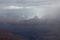 A November Storm blankets the Grand Canyon.  Seen from the Grandview Trail, below the South Rim.