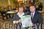 Teacher Mary Moran and Principal Jerry Fitzgerald who are very angry at the cut-backs in the recent budget which means pupils in Kerry will no longer learn any modern languages.