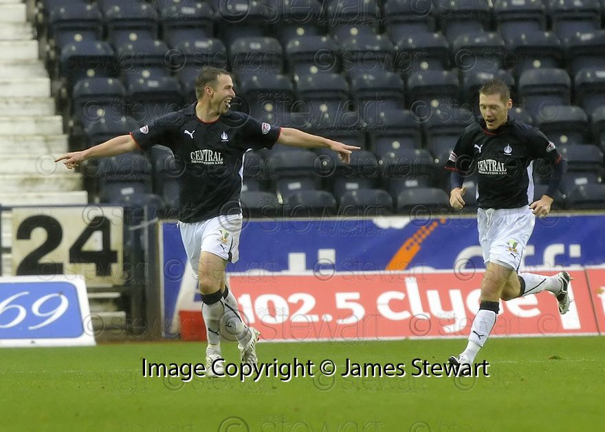 25/10/2008  Copyright Pic: James Stewart.File Name : sct_jspa03_kilmarnock_v_falkirk.STEVE LOVELL CELEBRATES WITH BURTON O'BRIEN AFTER HE SCORES FALKIRK'S FIRST.James Stewart Photo Agency 19 Carronlea Drive, Falkirk. FK2 8DN      Vat Reg No. 607 6932 25.Studio      : +44 (0)1324 611191 .Mobile      : +44 (0)7721 416997.E-mail  :  jim@jspa.co.uk.If you require further information then contact Jim Stewart on any of the numbers above........