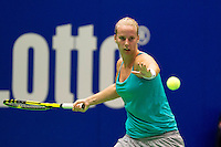 December 18, 2014, Rotterdam, Topsport Centrum, Lotto NK Tennis, Lady's quarter final, Richel Hogenkamp (NED)  <br /> Photo: Tennisimages/Henk Koster