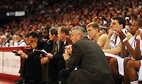 Wisconsin coach, Bo Ryan, watches from court-side, as the Badgers top Penn State 75-49 on Saturday at the Kohl Center in Madison