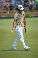 Satoshi Kodaira (JPN) talks to his putt on 11 during 4th round of the 100th PGA Championship at Bellerive Country Club, St. Louis, Missouri. 8/12/2018.<br /> Picture: Golffile   Ken Murray<br /> <br /> All photo usage must carry mandatory copyright credit (© Golffile   Ken Murray)
