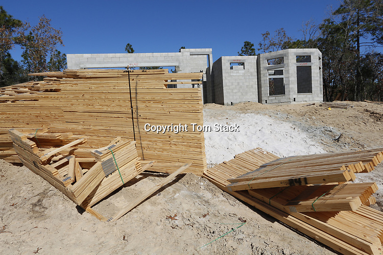 New Home construction in central Florida
