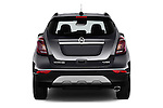 Straight rear view of 2017 Opel Mokka-X Innovation 5 Door SUV Rear View  stock images