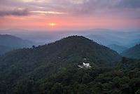 Mashpi Lodge at sunset, Choco Cloud Forest, Pichincha province, Ecuador