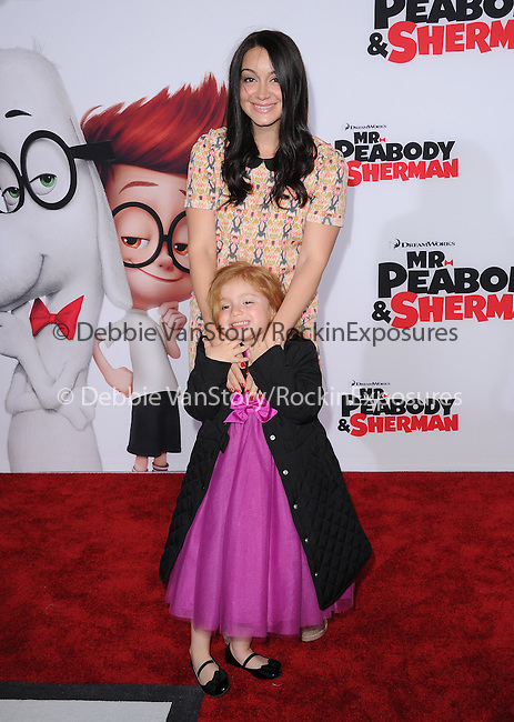 Shanelle Workman Gray and daughter attends The Twentieth Century Fox and Dreamwork Animation Holly-Woof Premiere of Mr. Peabody & Sherman Premiere held at The Regency Village Westwood in Westwood, California on March 05,2014                                                                               © 2014 Hollywood Press Agency