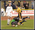 13/04/2002                 Copyright Pic : James Stewart .Ref :     .File Name : stewart-alloa v berwick 04.IAN LITTLE STARTS HIS CELEBRATION AFTER HE SCORES ALLOA'S GOAL PAST PAUL MATHERS......James Stewart Photo Agency, 19 Carronlea Drive, Falkirk. FK2 8DN      Vat Reg No. 607 6932 25.Office     : +44 (0)1324 570906     .Mobile  : +44 (0)7721 416997.Fax         :  +44 (0)1324 570906.E-mail  :  jim@jspa.co.uk.If you require further information then contact Jim Stewart on any of the numbers above.........