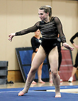 STANFORD, CA--March 1, 2013--Nicole Dayton with Stanford women's Gymnastics team competes during the competition against Cal and Oregon State University on the Stanford University Campus. Stanford won the competition .