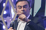 Carlos Ghosn, Chairman and CEO of Renault-Nissan Alliance speaks during the Slush Tokyo 2017 event on March 30, 2017, Tokyo, Japan. The 2 day event features outstanding entrepreneurs sharing their stories and showcasing their products and services in Tokyo Big Sight. (Photo by Rodrigo Reyes Marin/AFLO)