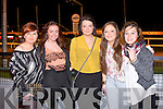 SHOW: Enjoying a great time the Irish Cancer Society Fashion Show at the Kingdom Greyhound Stadium on Saturday l-r: Nadia Hegarty, Orla Fitzgerald, Shauna Enright, Erin Flannaghan and Sarah Counihan.