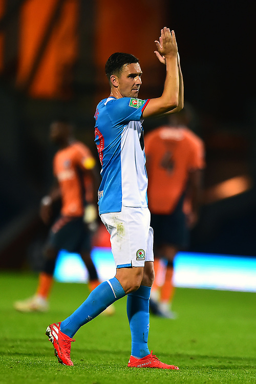 Blackburn Rovers' Stewart Downing applauds the fans at the end of the match<br /> <br /> Photographer Richard Martin-Roberts/CameraSport<br /> <br /> The Carabao Cup First Round - Tuesday 13th August 2019 - Blackburn Rovers v Oldham Athletic - Ewood Park - Blackburn<br />  <br /> World Copyright © 2019 CameraSport. All rights reserved. 43 Linden Ave. Countesthorpe. Leicester. England. LE8 5PG - Tel: +44 (0) 116 277 4147 - admin@camerasport.com - www.camerasport.com