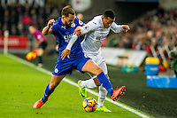Matrin Olsson of Swansea City in action during the Premier League match between Swansea City and Leicester City at The Liberty Stadium, Swansea, Wales, UK. Sunday 12 February 2017