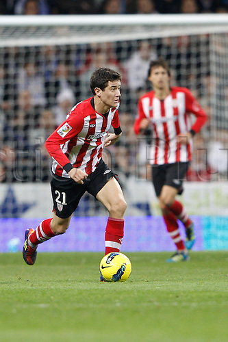 22.01.2012. Madrid Spain. La Liga  The match played between  Real Madrid and Athletic Club de Bilbao (4-1)  played at the Santiago Bernabeu Stadium.  Picture show Ander Herrera Aguera (Spanish midfielder of Athletic)