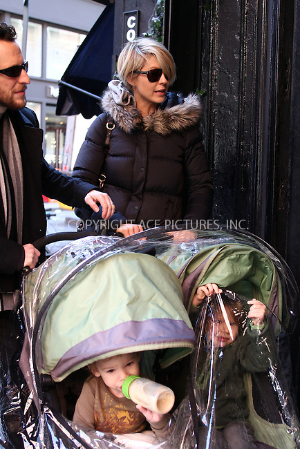 WWW.ACEPIXS.COM . . . . .  ....February 27 2012, New York City....Actors Jennifer Elfman and Bodhi Elfman out with their kids in Soho on February 27 2012 in New York City....Please byline: CURTIS MEANS - ACE PICTURES.... *** ***..Ace Pictures, Inc:  ..Philip Vaughan (212) 243-8787 or (646) 769 0430..e-mail: info@acepixs.com..web: http://www.acepixs.com