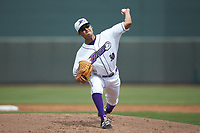 Winston-Salem Dash starting pitcher Bernardo Flores (30) in action against the Salem Red Sox at BB&T Ballpark on April 22, 2018 in Winston-Salem, North Carolina.  The Red Sox defeated the Dash 6-4 in 10 innings.  (Brian Westerholt/Four Seam Images)