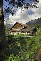 Wooden farm building, Imst district, the Tyrol, Tirol, Austria.