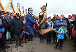 NO REPRO FEE.<br />PLOUGHiNG AT THE STARS…<br />RTE's, Marty Morrissey and Dancing with the Stars Anna Geary, pictured in action dancing the Charleston at the National Dairy Council stand during the National Ploughing Championships held in Screggan, Tullamore, Co. Offaly. Pic. Robbie Reynolds.