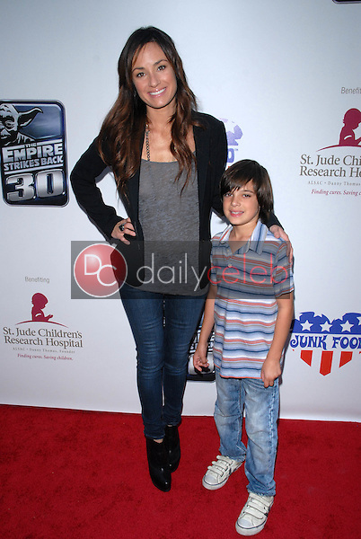 Catt Sadler and son Austin<br />