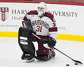 Merrick Madsen (Harvard - 31) - The Harvard University Crimson tied the visiting Dartmouth College Big Green 3-3 in both team's first game of the season on Saturday, November 1, 2014, at Bright-Landry Hockey Center in Cambridge, Massachusetts.