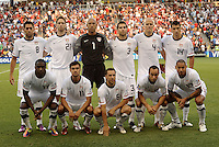 USA Starting XI..USA defeated Guadeloupe 1-0 in Gold Cup play at LIVESTRONG Sporting Park, Kansas City, Kansas.