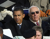 United States Senators Barack Obama (Democrat of Illinois), left, and Frank Lautenberg (Democrat of New Jersey), right, attend the ceremony for U.S. President George W. Bush as Bush is sworn-in for his second term as President of the United States at the U.S. Capitol in Washington, D.C. on January 20, 2005..Credit: Arnie Sachs / CNP