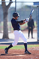 Edward Russell (47), from Vacaville, California, while playing for the Padres during the Under Armour Baseball Factory Recruiting Classic at Red Mountain Baseball Complex on December 29, 2017 in Mesa, Arizona. (Zachary Lucy/Four Seam Images)