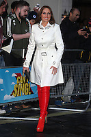 Carol Vorderman arriving for the I Can't Sing Press Night, at the Paladium, London. 26/03/2014 Picture by: Alexandra Glen / Featureflash