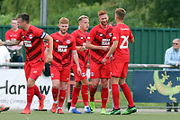 Matt Harrold of Leyton Orient is congratulated after scoring the first goal during Harlow Town vs Leyton Orient, Friendly Match Football at The Harlow Arena on 6th July 2019