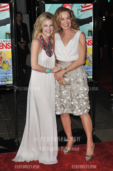 "Drew Barrymore (left) & Jessica Lange at the Los Angeles premiere of their new movie ""Grey Gardens"" at Grauman's Chinese Theatre, Hollywood..April 16, 2009  Los Angeles, CA.Picture: Paul Smith / Featureflash"
