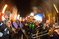 The New Sound Brass Band performs on 10th Street during the Food Trust's Night Market in Chinatown on October 6, 2013.