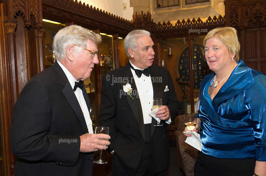 Blue Leadership Ball 2011, Yale University Athletics. VIP Reception in the Kiphuth Trophy Room, Payne Whitney Gymnasium.