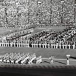 Japanese delegation,<br /> OCTOBER 10, 1964 - Opening Ceremony : Japanese delegation parades during the Opening Ceremony of 1964 Tokyo Olympic Games at National Stadium in Tokyo, Japan.<br /> (Photo by Shinichi Yamada/AFLO) [0348]