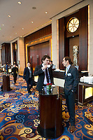 Shanghai / Paris Europlace Financial Forum 'Developing new cooperation and business opportunities between Financial Centers' takes place in Shangri-La hotel in Shanghai, China, on December 1, 2010. Photo by Lucas Schifres/Pictobank