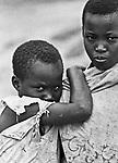 Rwandan refugee girls in Uganda