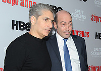 NEW YORK, NEW YORK - JANUARY 09: Michael Imperioli and John Ventimiglia attends the 'The Sopranos' 20th Anniversary Panel Discussion at SVA Theater on January 09, 2019 in New York City. Credit: John Palmer/MediaPunch