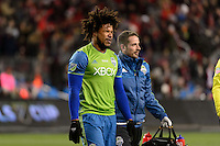Toronto, ON, Canada - Saturday Dec. 10, 2016: Roman Torres during the MLS Cup finals at BMO Field. The Seattle Sounders FC defeated Toronto FC on penalty kicks after playing a scoreless game.