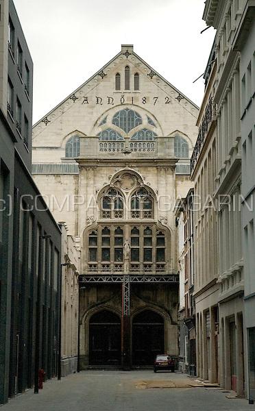 the old Handelsbeurs, trade market echange, in Antwerp (26/08/2007)
