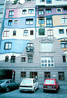 Friedensreich Hundertwasser : Hundertwasser House, Vienna. The building has 50 apartments.