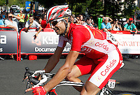 David Moncoutie during the stage of La Vuelta 2012 beetwen Cercedilla and Madrid.September 9,2012. (ALTERPHOTOS/Paola Otero)
