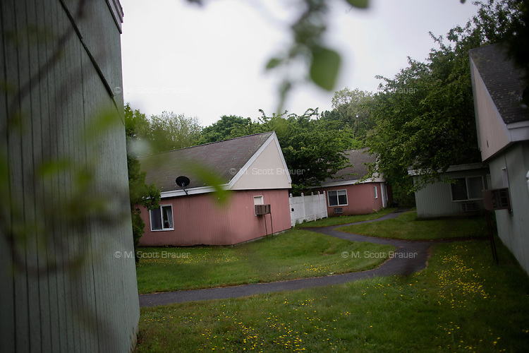 The residences in Malone Park at the Fernald Developmental Center in Waltham, Massachusetts, USA, house 13 people with severe mental disabilities.