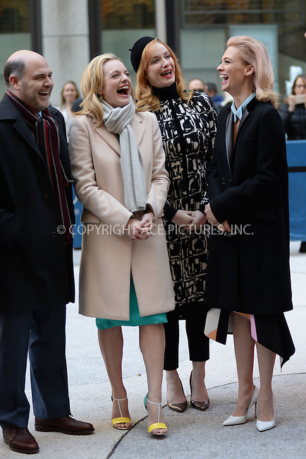 WWW.ACEPIXS.COM<br /> March 23, 2015 New York City<br /> <br /> Elisabeth Moss, Christina Hendricks and January Jones attending the 'Mad Men' art installation Unveiling at Time &amp; Life Building on March 23, 2015 in New York City. <br /> <br /> Please byline: Kristin Callahan/AcePictures<br /> <br /> ACEPIXS.COM<br /> <br /> Tel: (646) 769 0430<br /> e-mail: info@acepixs.com<br /> web: http://www.acepixs.com