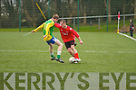 Iveragh United's Niall Fitzgerald shows some lovely touches as he gets around Skelliga's Mike O'Sullivan. Iveragh United 3 - Skelliga FC 2.