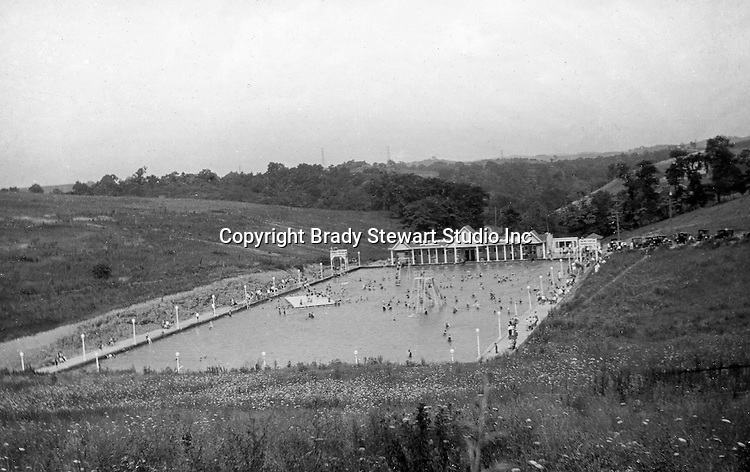 East McKeesport PA:  The Stewart family swimming at the new Blue Dell Swimming Pool - 1928