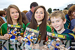 Pictured at the Kerry fans family day held in Fitzgerald Stadium on Saturday were l-r: Lorna McCarthy, Amber Seri and Daire McCarthy (all Milltown) pictured at the Kerry fans press day held in Fitzgerald Stadium on Saturday last.