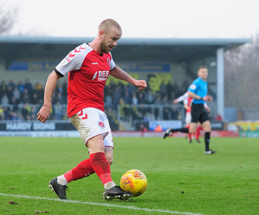 Fleetwood Town's Paddy Madden<br /> <br /> Photographer Chris Vaughan/CameraSport<br /> <br /> The EFL Sky Bet League One - Saturday 23rd February 2019 - Burton Albion v Fleetwood Town - Pirelli Stadium - Burton upon Trent<br /> <br /> World Copyright © 2019 CameraSport. All rights reserved. 43 Linden Ave. Countesthorpe. Leicester. England. LE8 5PG - Tel: +44 (0) 116 277 4147 - admin@camerasport.com - www.camerasport.com